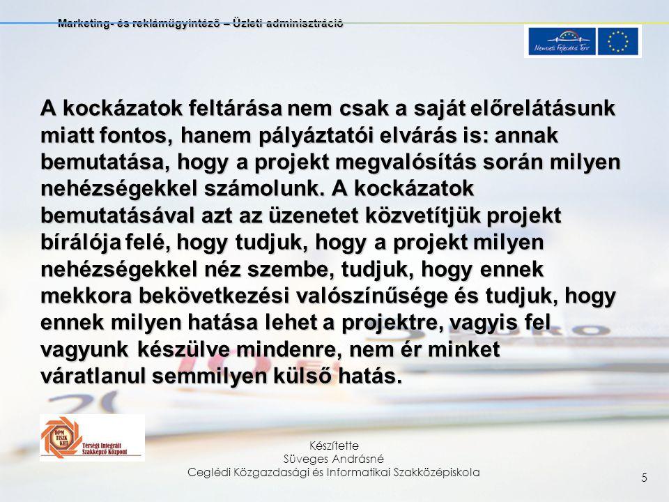 Marketing- és reklámügyintéző – Üzleti adminisztráció Készítette Süveges Andrásné Ceglédi Közgazdasági és Informatikai Szakközépiskola 6 4.