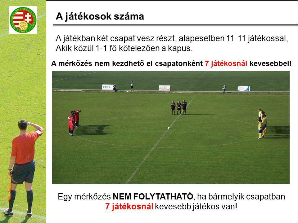A A játékban két csapat vesz részt, alapesetben 11-11 játékossal, Akik közül 1-1 fő kötelezően a kapus.