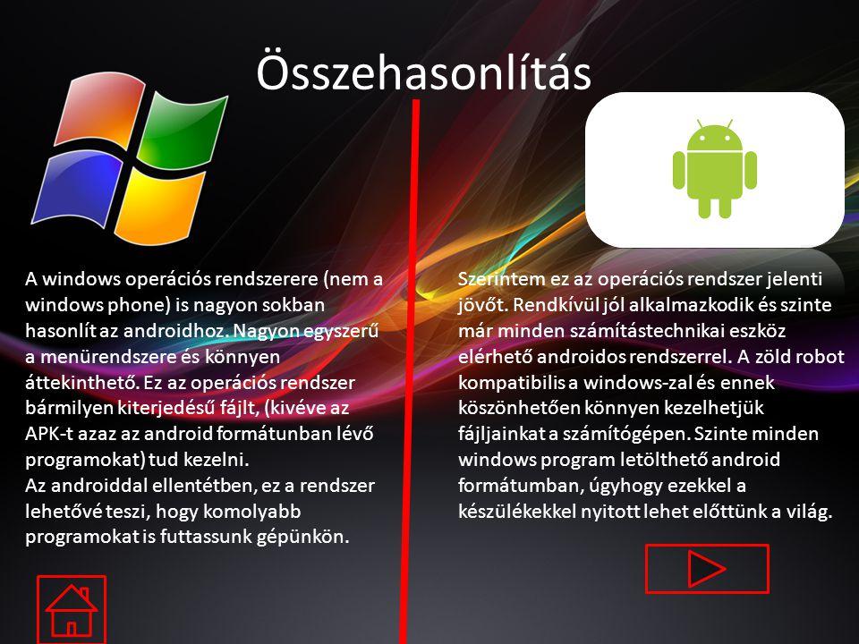 Tulajdonságai Memória bővíthetősége: microSD, 32 GB-ig Belső tárhely: 8 GB (5,8 GB felhasználó által használható), 1 GB RAM Android rendszer: ANDROID