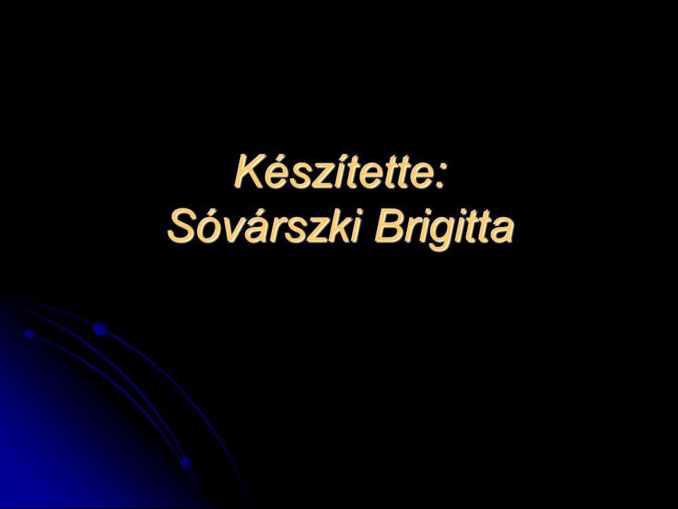 Készítette: Sóvárszki Brigitta