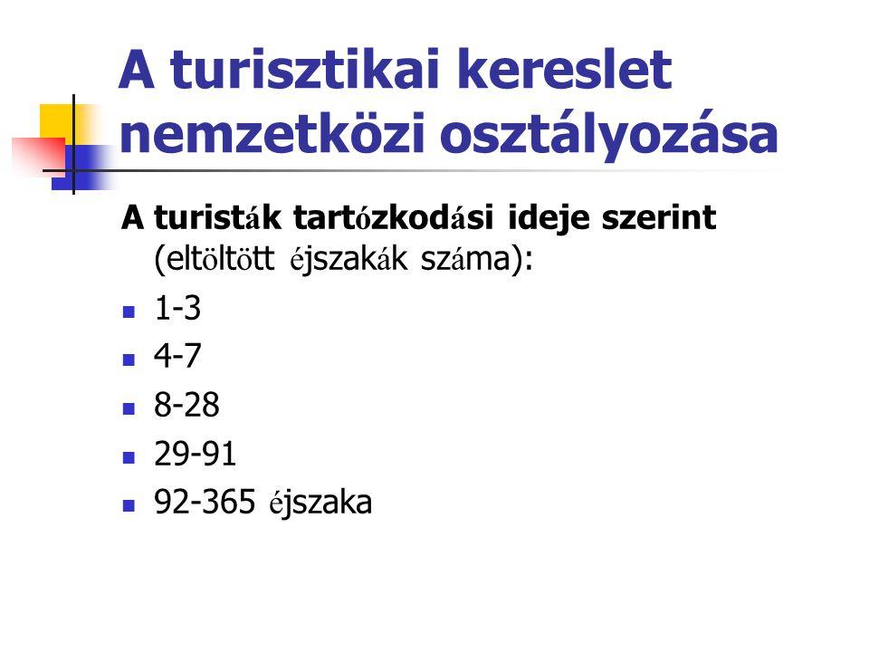 A fő turisztikai tevékenységi csoportok: · Turisztikai l é tes í tm é nyek é p í t é se (pl.