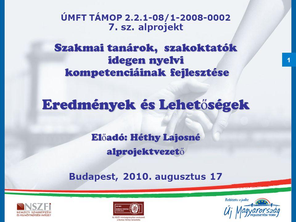1 ÚMFT TÁMOP 2.2.1-08/1-2008-0002 7. sz.