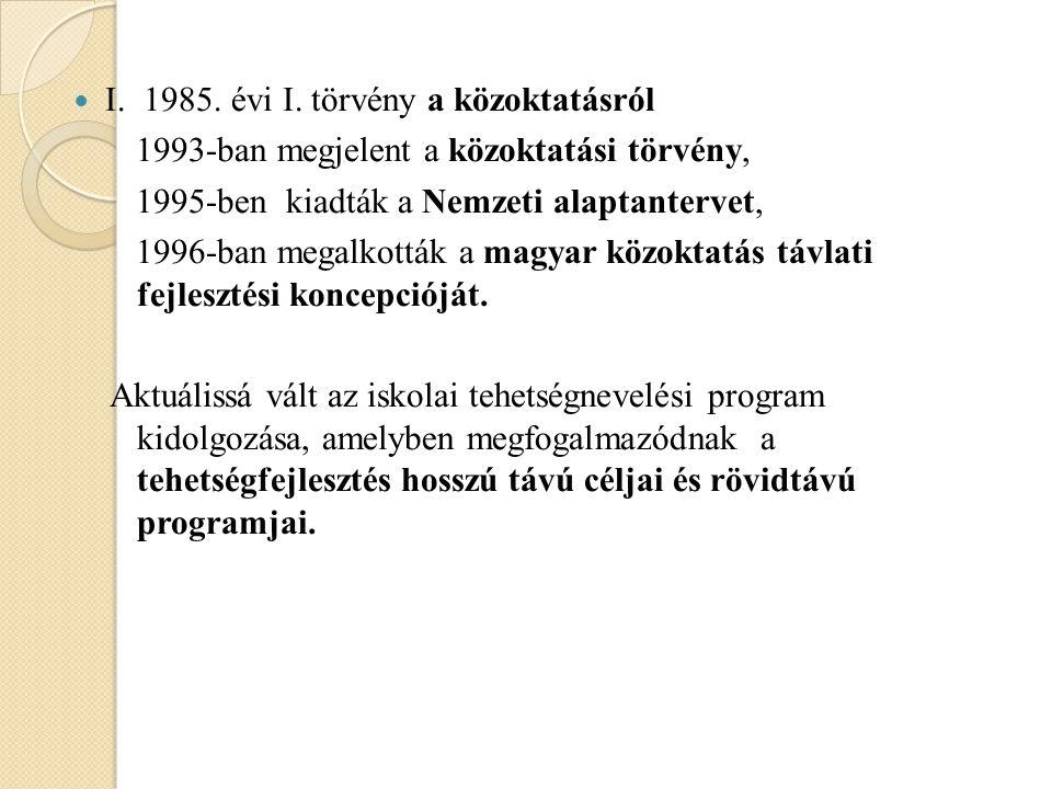 I. 1985. évi I.