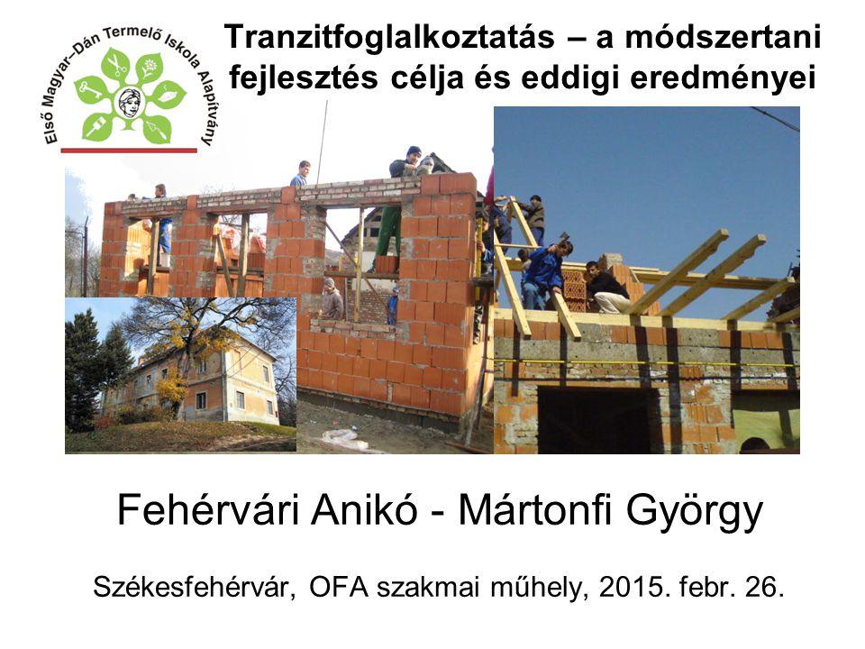 Fehérvári Anikó - Mártonfi György Székesfehérvár, OFA szakmai műhely, 2015. febr. 26. Tranzitfoglalkoztatás – a módszertani fejlesztés célja és eddigi