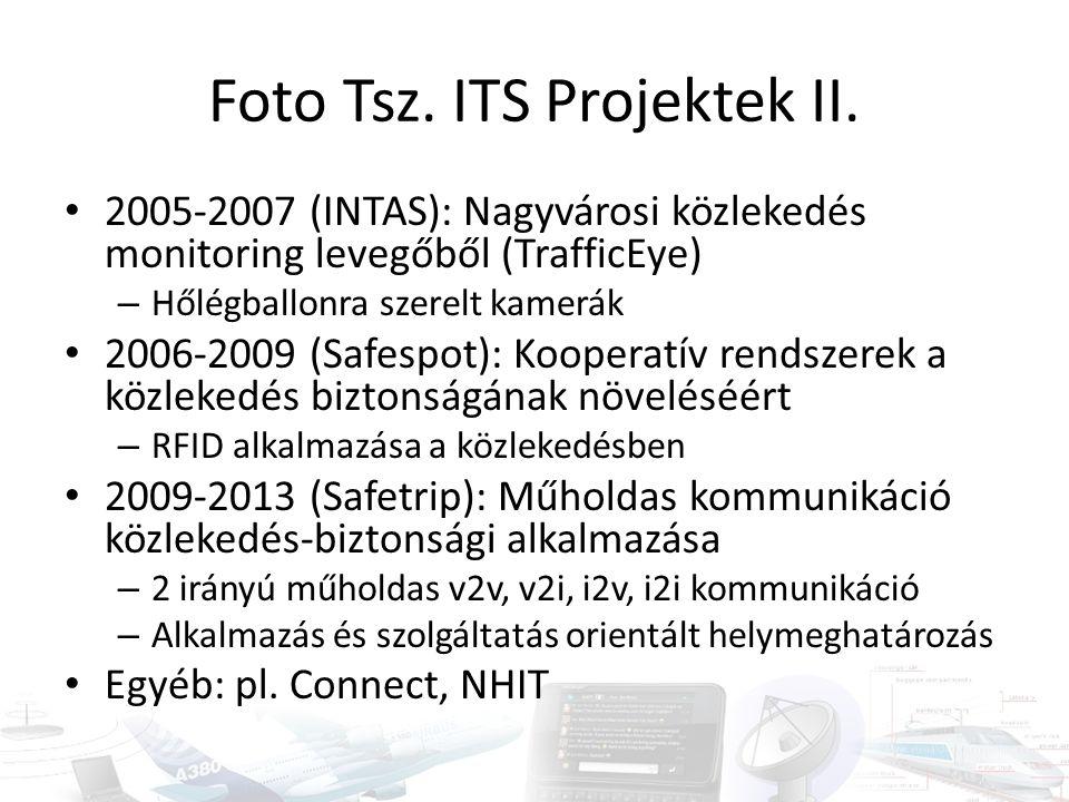 Foto Tsz. ITS Projektek II. 2005-2007 (INTAS): Nagyvárosi közlekedés monitoring levegőből (TrafficEye) – Hőlégballonra szerelt kamerák 2006-2009 (Safe