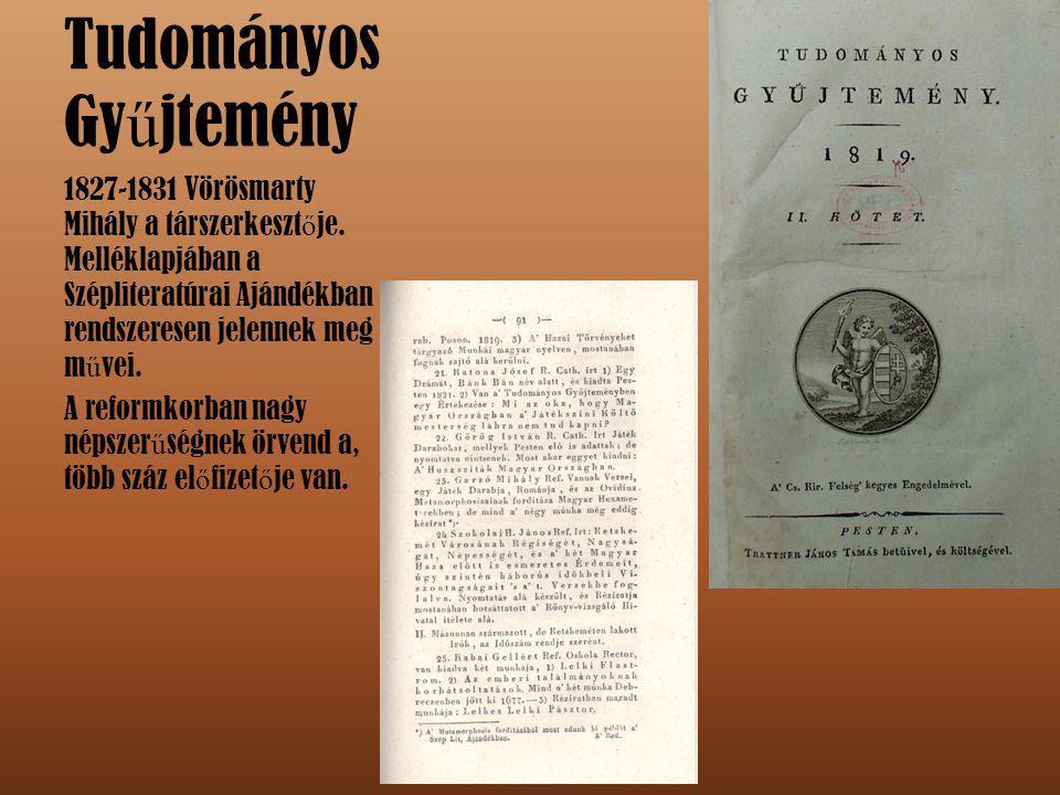 Kisfaludy Társaság Az 1836-1952-ig m ű köd ő társaságot Vörösmarty kilenc másik társával együtt alapította.