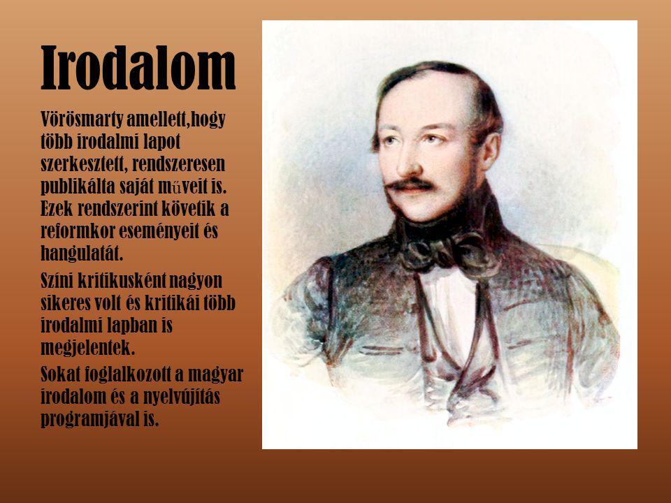 Nemzeti kör Vörösmarty az 1837 és 1847 között m ű köd ő Nemzeti Kör alapítója és elnöke volt, m ű ködésében folyamatosan résztvett.