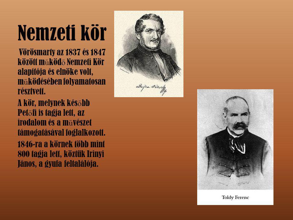 Ellenzéki Kör 1847-ben alapult a Nemzeti Kör és a Pesti Kör egyesüléséb ő l.
