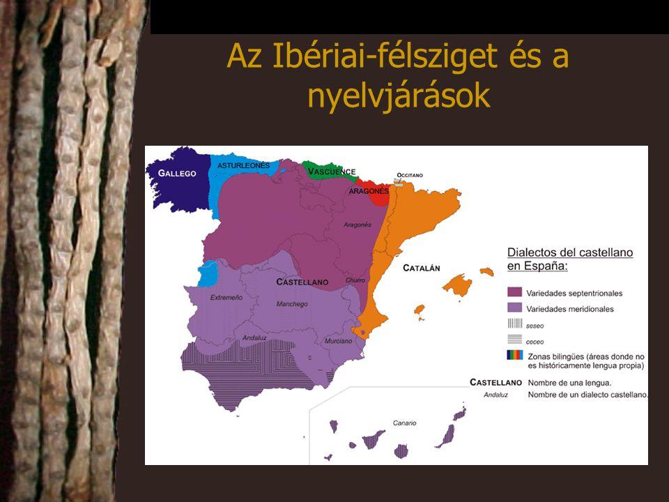Az Ibériai-félsziget és a nyelvjárások
