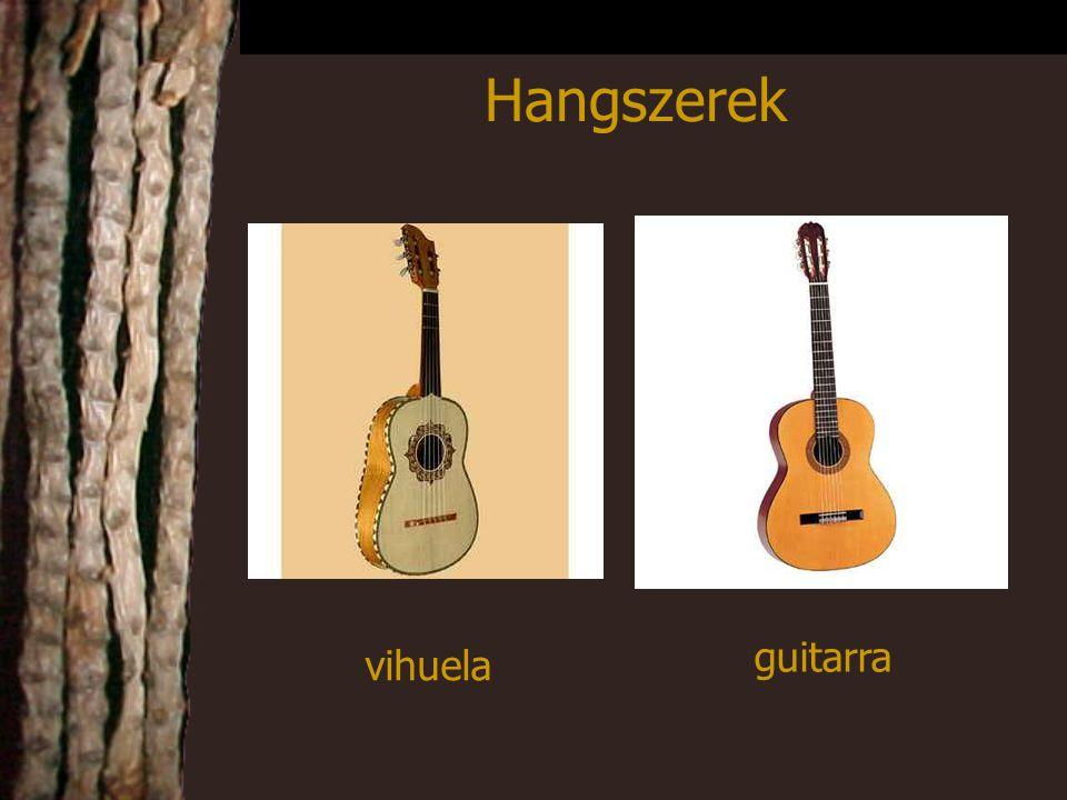 vihuela guitarra Hangszerek