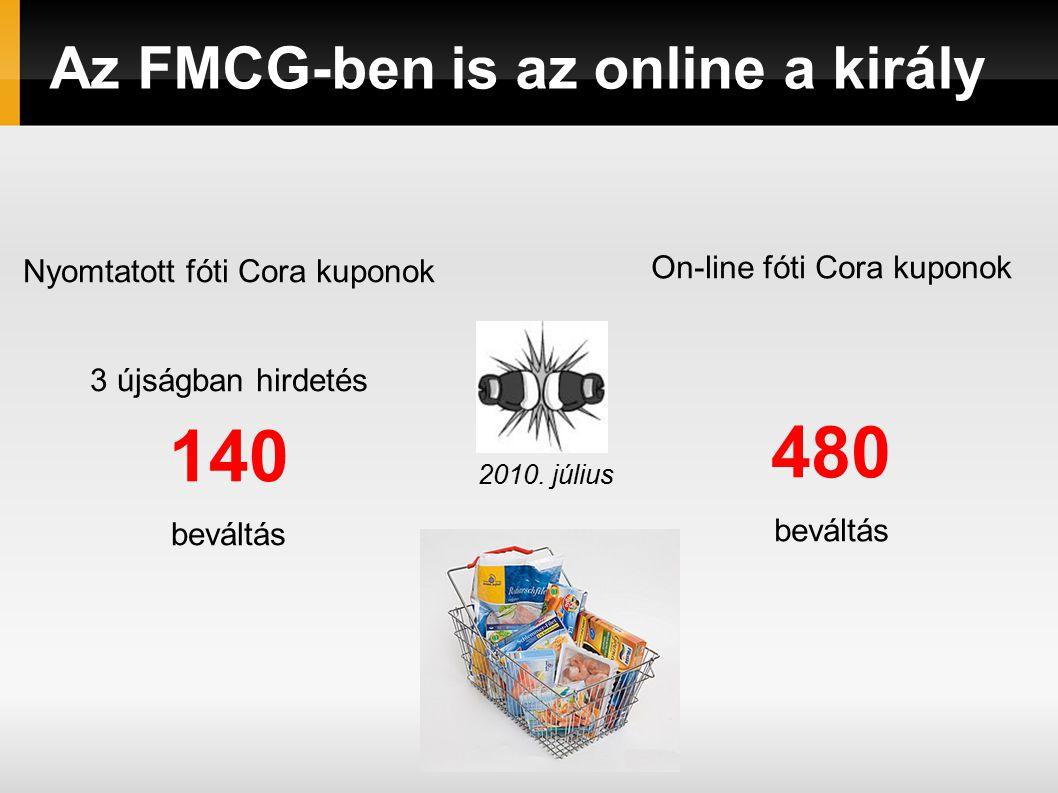 Az FMCG-ben is az online a király Nyomtatott fóti Cora kuponok 3 újságban hirdetés 140 beváltás On-line fóti Cora kuponok 480 beváltás 2010.