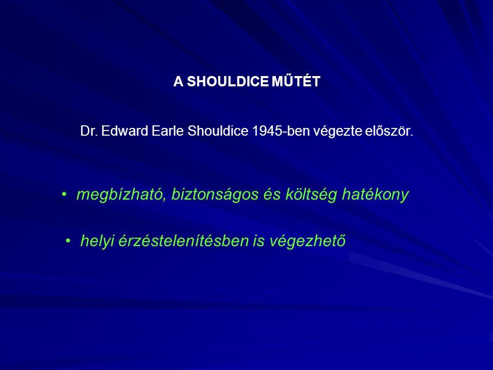 A SHOULDICE MŰTÉT Dr.Edward Earle Shouldice 1945-ben végezte először.