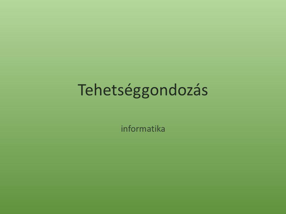 Tehetséggondozás informatika