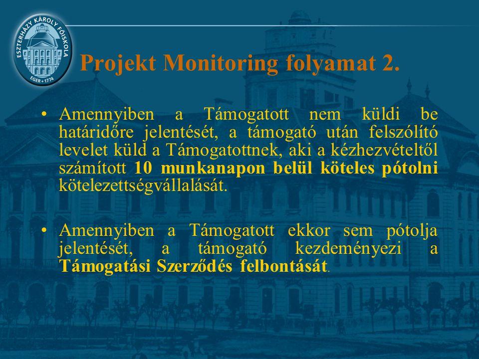 Projekt Monitoring folyamat 2.