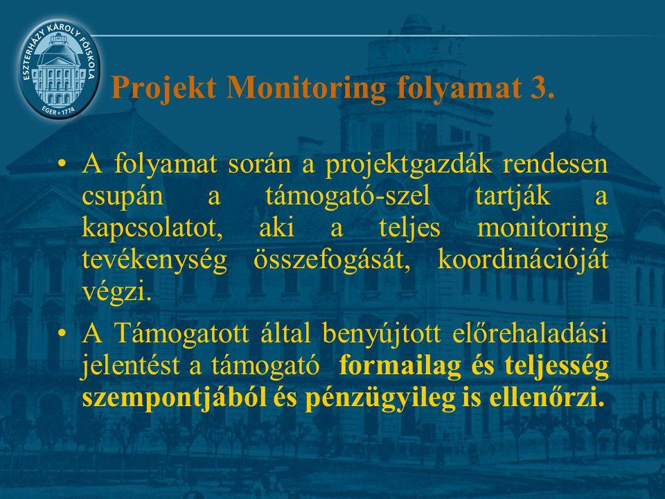 Projekt Monitoring folyamat 3.