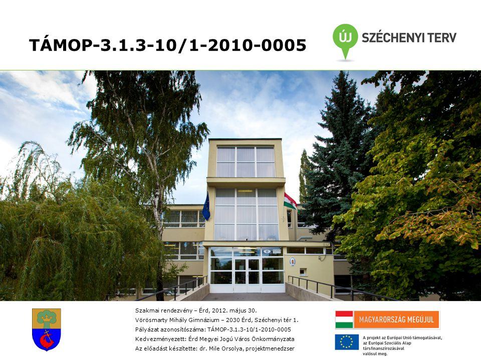 TÁMOP-3.1.3-10/1-2010-0005 Szakmai rendezvény – Érd, 2012.