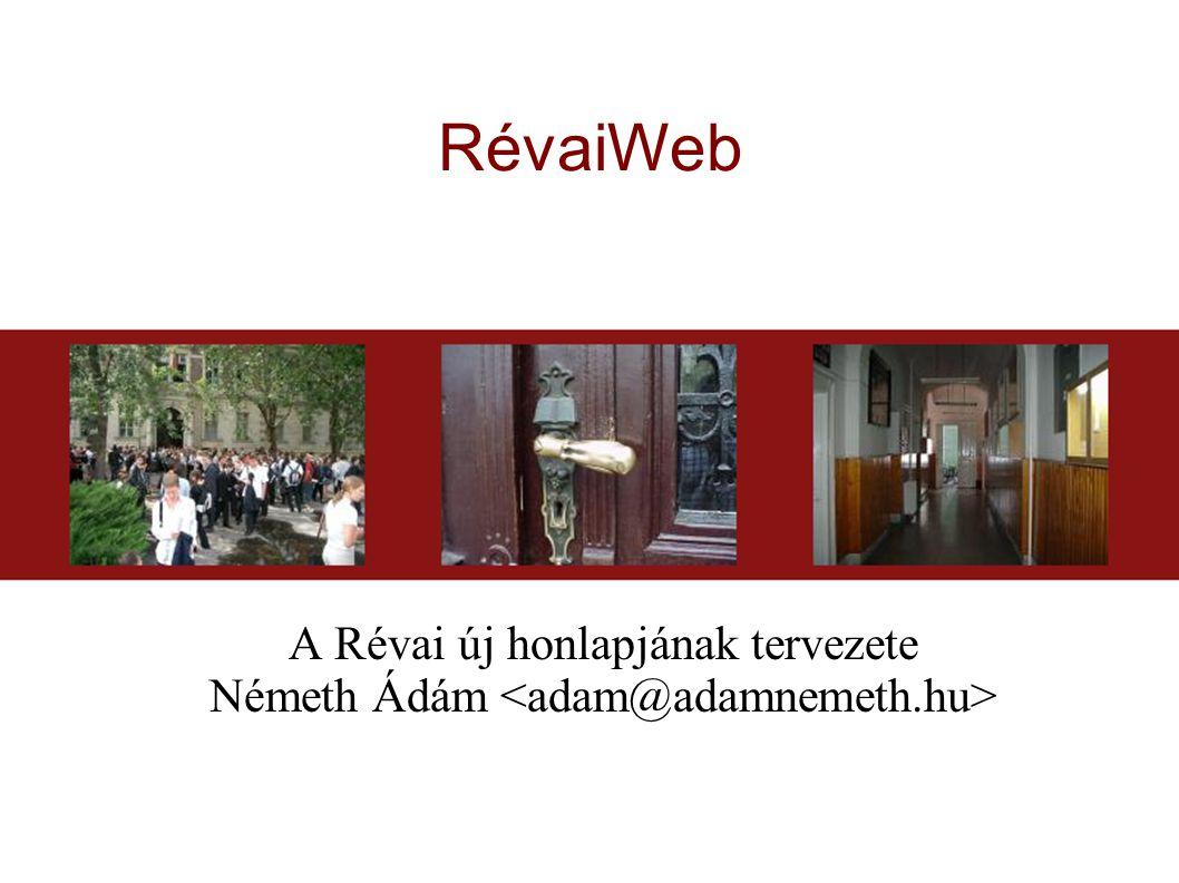 RévaiWeb A Révai új honlapjának tervezete Németh Ádám