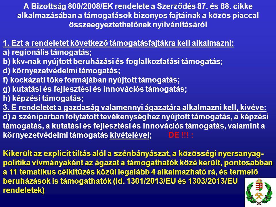 A Bizottság 800/2008/EK rendelete a Szerződés 87. és 88.