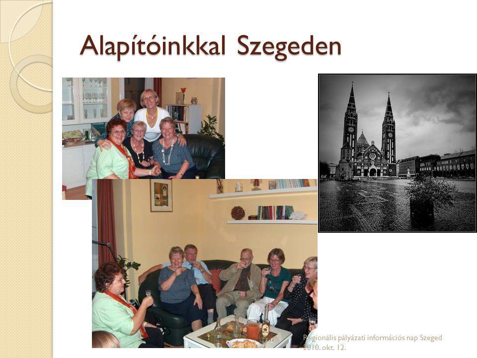 Alapítóinkkal Szegeden Regionális pályázati információs nap Szeged 2010. okt. 12.
