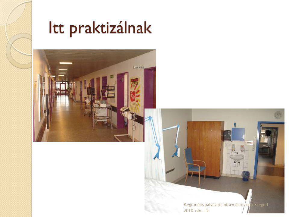 Itt praktizálnak Regionális pályázati információs nap Szeged 2010. okt. 12.
