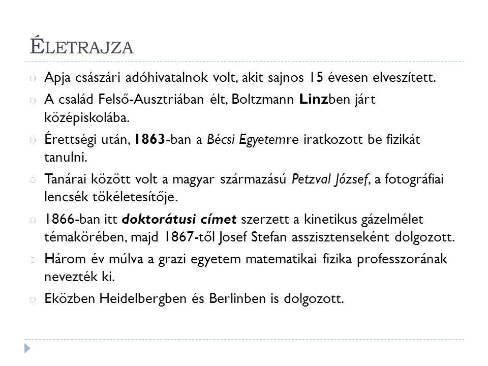 É LETRAJZA ◌ Apja császári adóhivatalnok volt, akit sajnos 15 évesen elveszített.