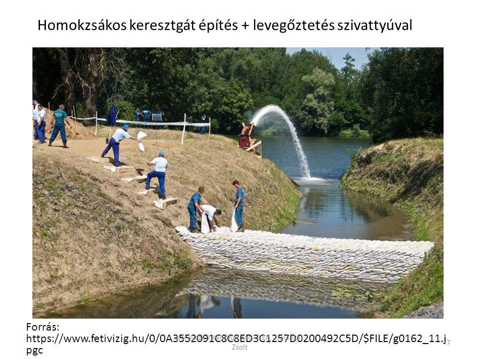 Forrás: https://www.fetivizig.hu/0/0A3552091C8C8ED3C1257D0200492C5D/$FILE/g0162_11.j pgc 7 Homokzsákos keresztgát építés + levegőztetés szivattyúval K