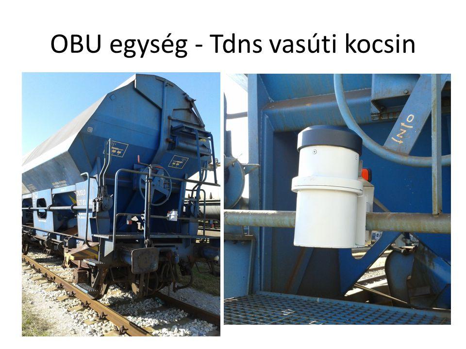 OBU egység - Tdns vasúti kocsin