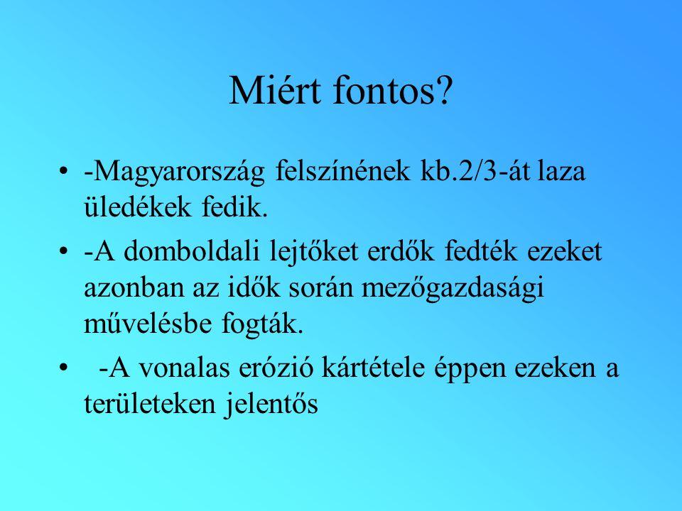 Miért fontos. -Magyarország felszínének kb.2/3-át laza üledékek fedik.