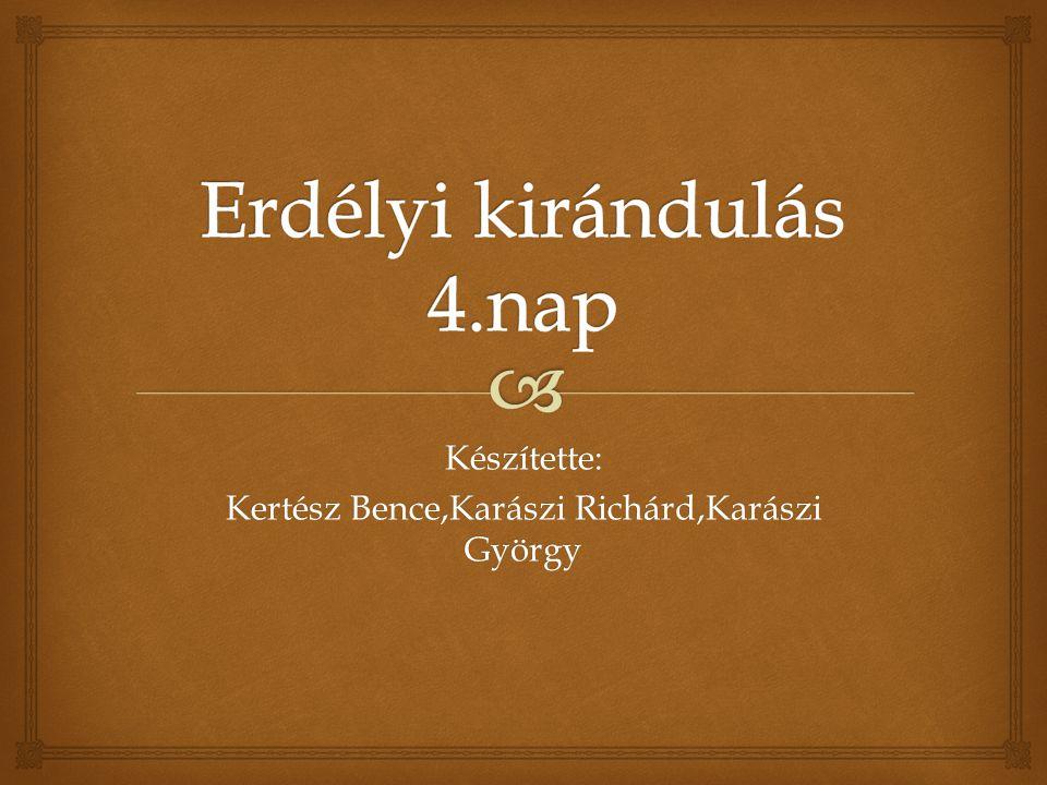 Készítette: Kertész Bence,Karászi Richárd,Karászi György
