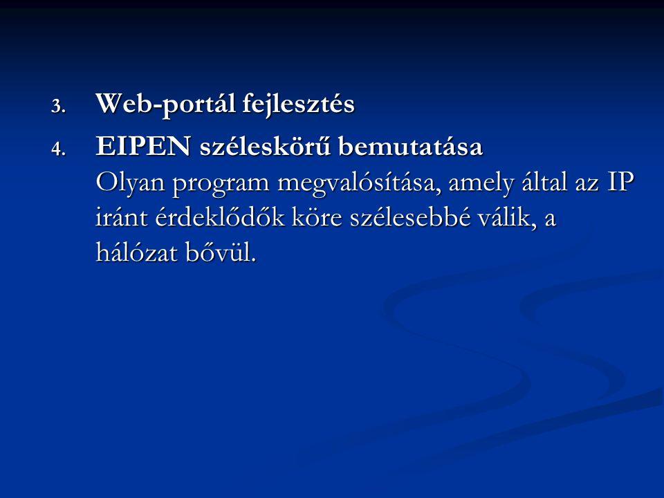 3. Web-portál fejlesztés 4.