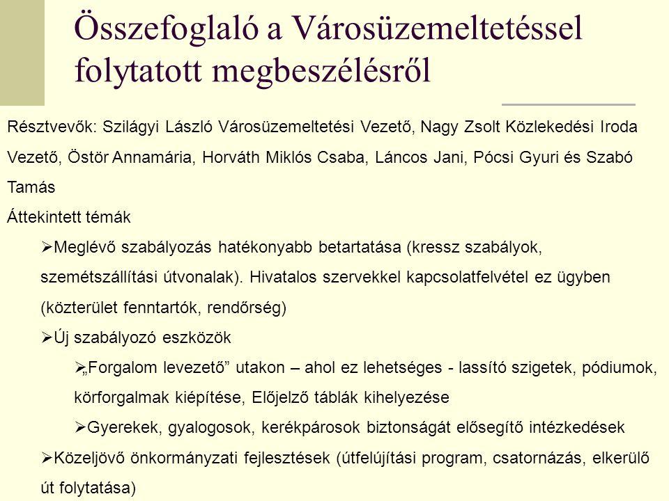 Egyesület Javaslatai Javaslataink:.