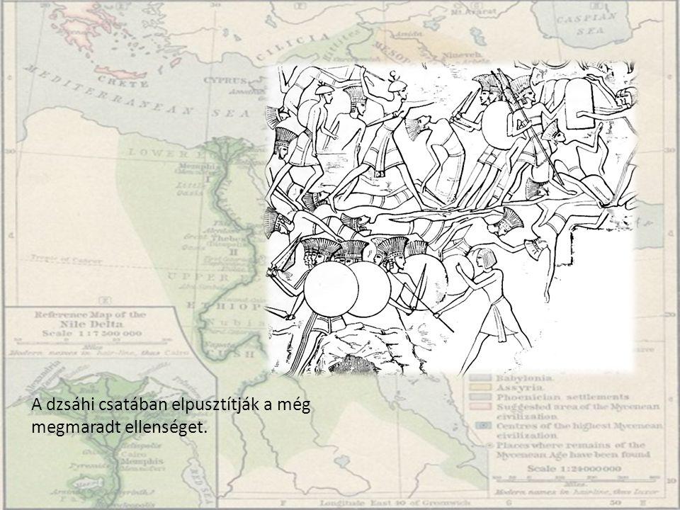 II.Ramszesz II. Ramszesz íjjal a harckocsin a fáraók harci fejdíszével.