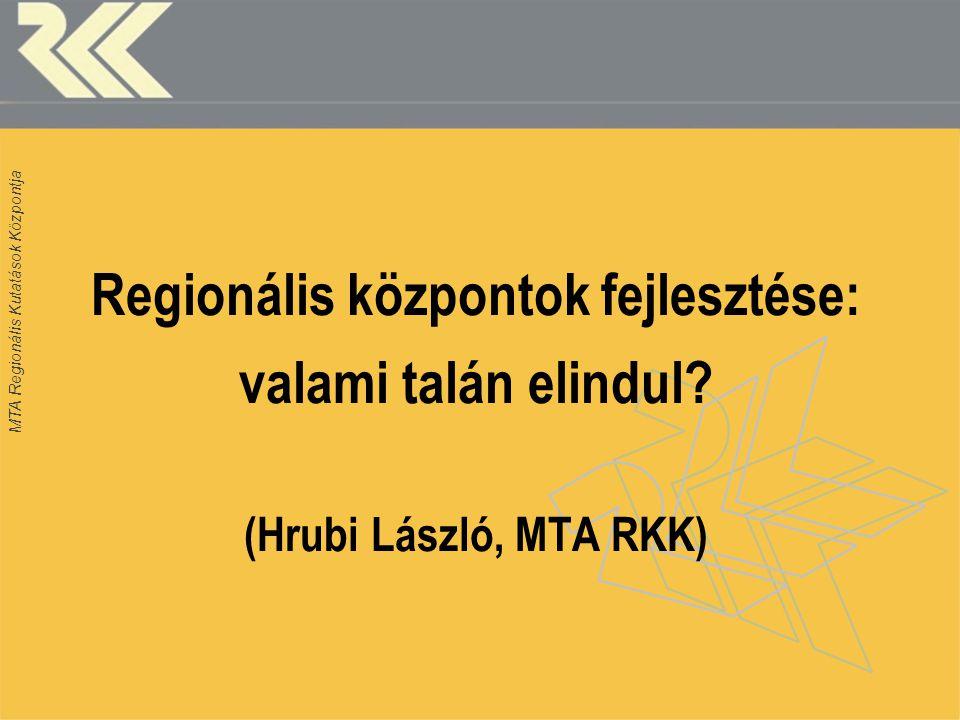 MTA Regionális Kutatások Központja 1.