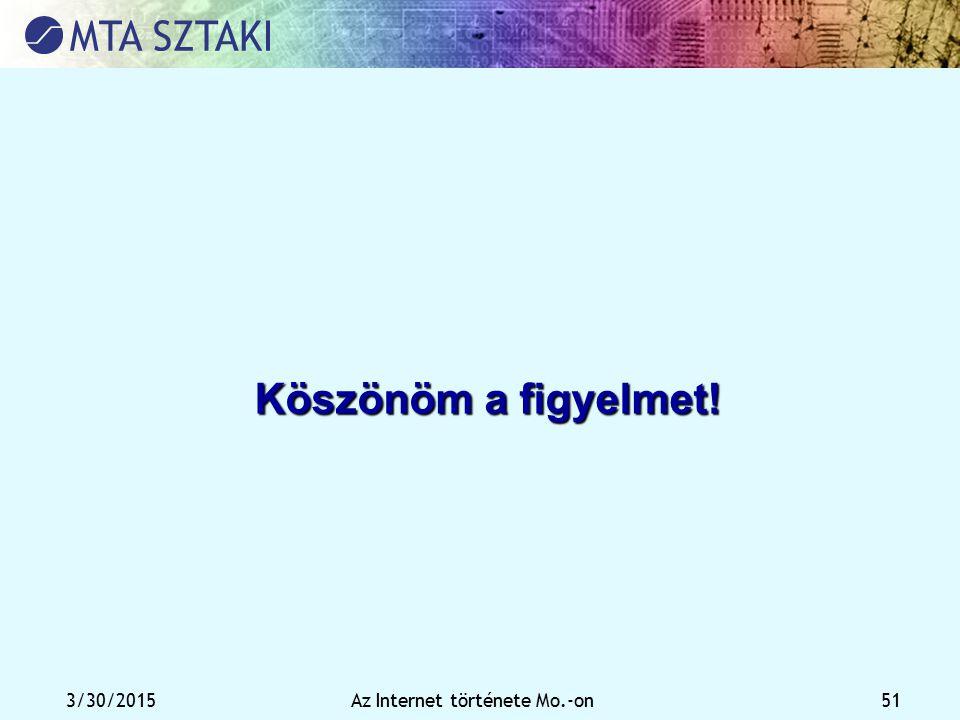 3/30/2015Az Internet története Mo.-on 51 Köszönöm a figyelmet!