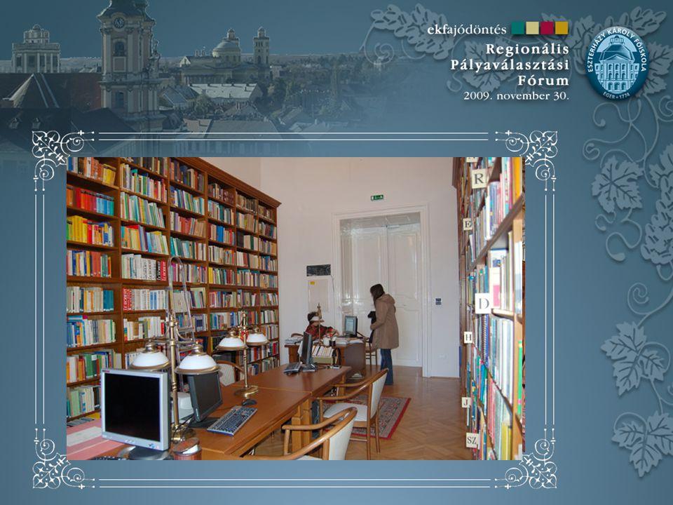 Olvastam, hogy az EKF könyvtára igen jól felszerelt.