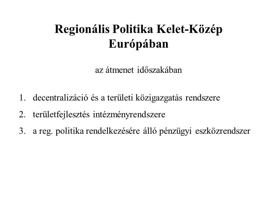 A kelet-európai régiók fejlettsége