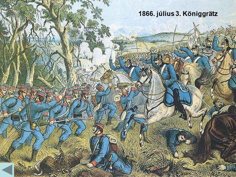 Richard Belcredi Otto von Bismarck 1866. július 3. Königgrätz