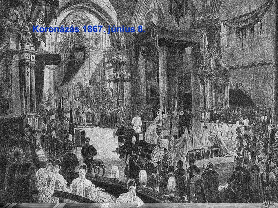 Ferdinand Beust Andrássy-kormány eskütétele Koronázás 1867. június 8.