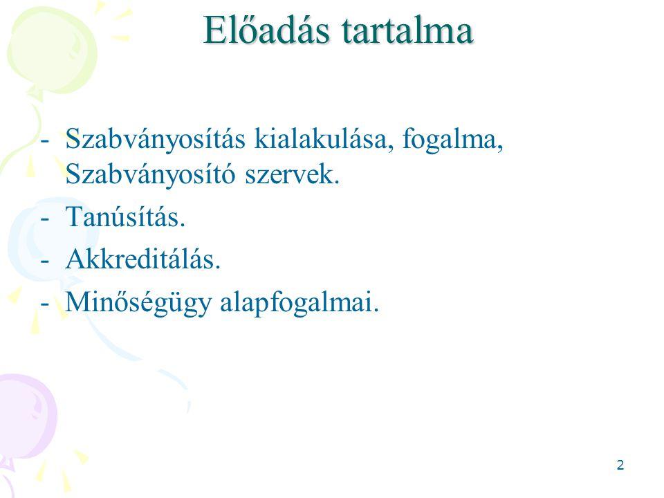 33 Nemzeti szabványosítás 1995.évi XXVIII.