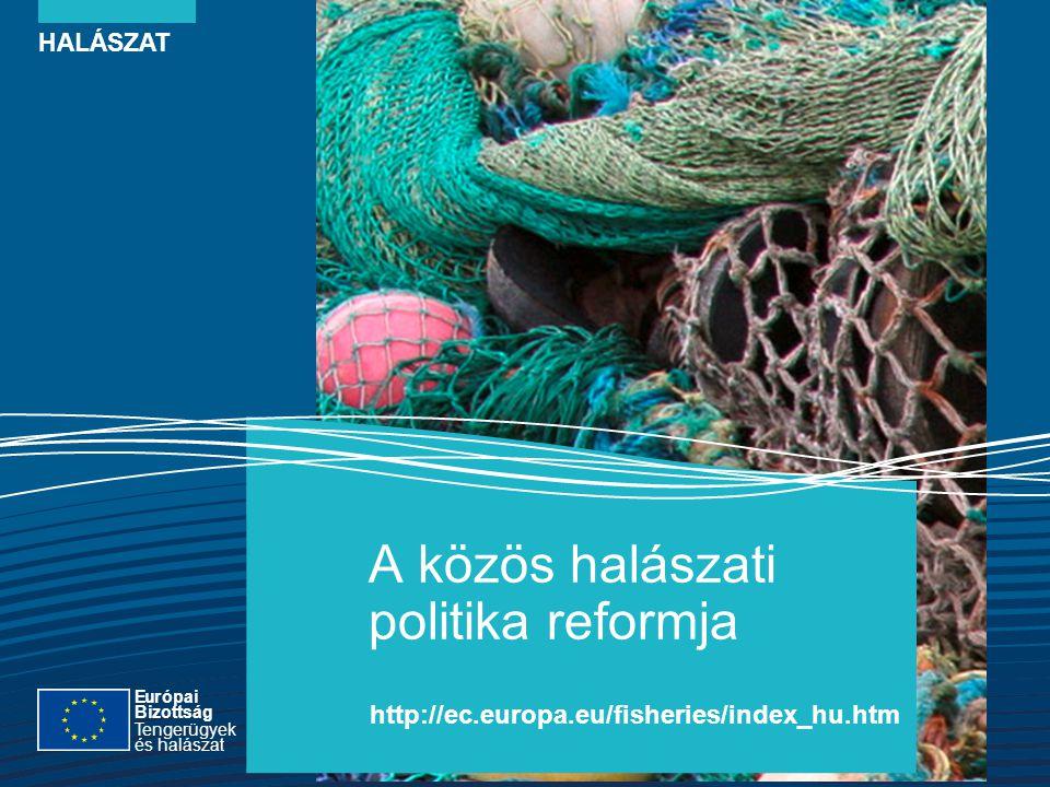 HALÁSZAT A közös halászati politika reformja http://ec.europa.eu/fisheries/index_hu.htm Európai Bizottság Tengerügyek és halászat