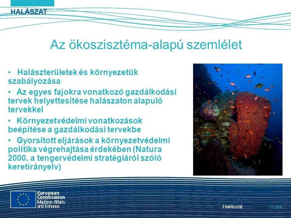 HALÁSZAT dia European Commission MaritimeAffairs andFisheries Halászat10.Halászat 10. HALÁSZAT dia Az ökoszisztéma-alapú szemlélet Halászterületek és