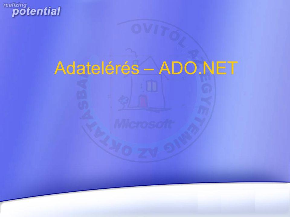 Adatelérés – ADO.NET