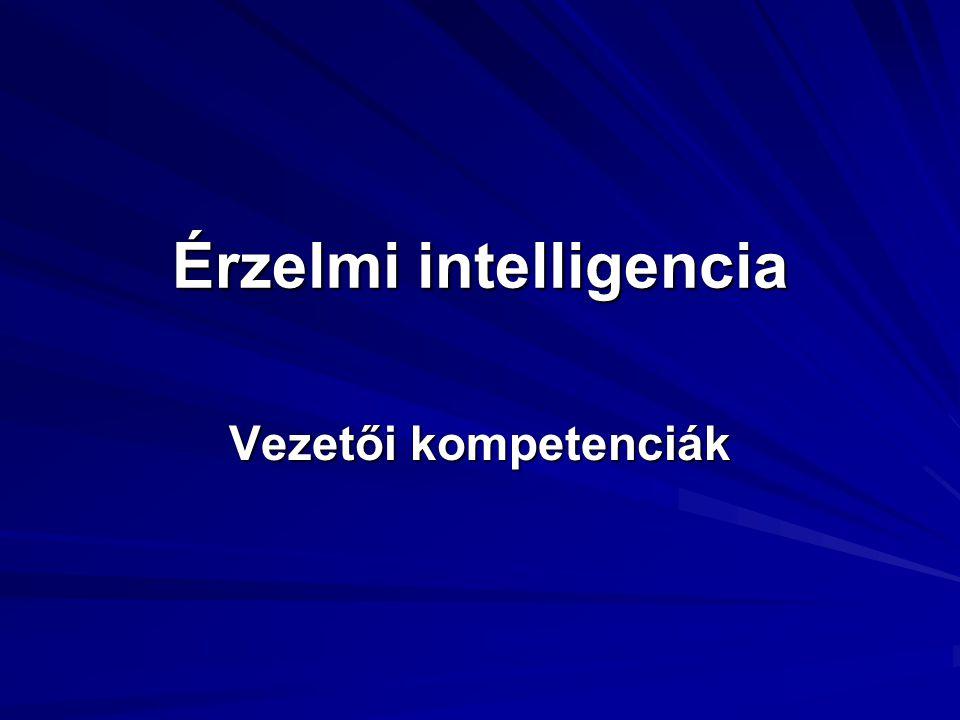 Érzelmi intelligencia Vezetői kompetenciák