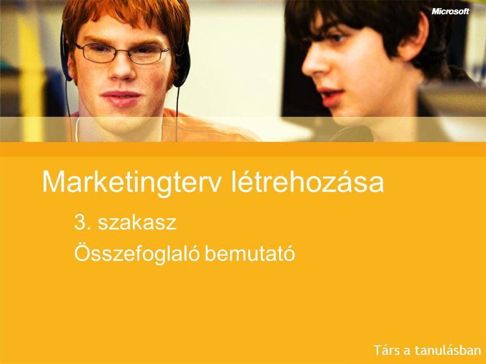 Marketingterv létrehozása 3. szakasz Összefoglaló bemutató