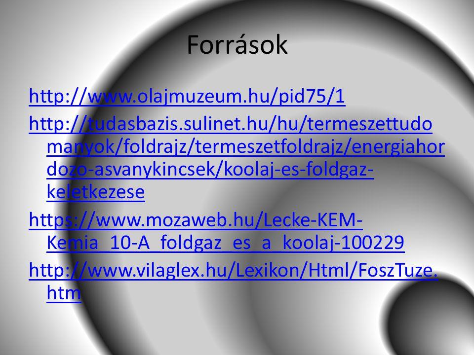 Források http://www.olajmuzeum.hu/pid75/1 http://tudasbazis.sulinet.hu/hu/termeszettudo manyok/foldrajz/termeszetfoldrajz/energiahor dozo-asvanykincse