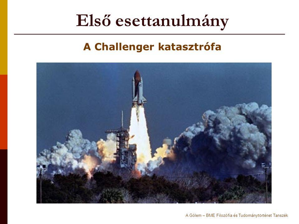 Első esettanulmány A Challenger katasztrófa A Gólem – BME Filozófia és Tudománytörténet Tanszék