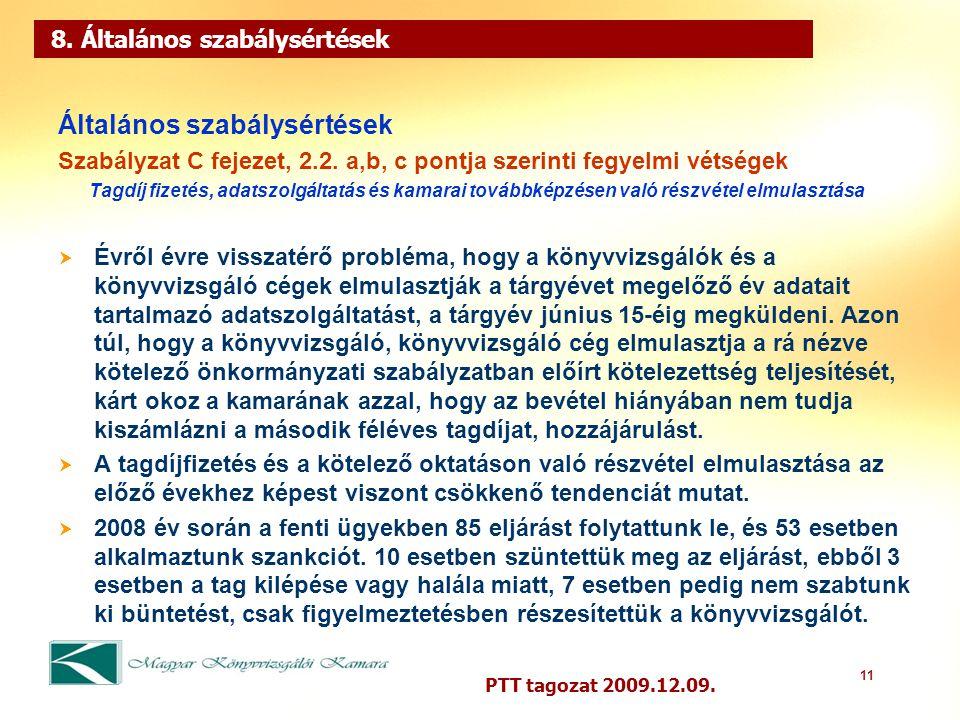 11 PTT tagozat 2009.12.09. 8.