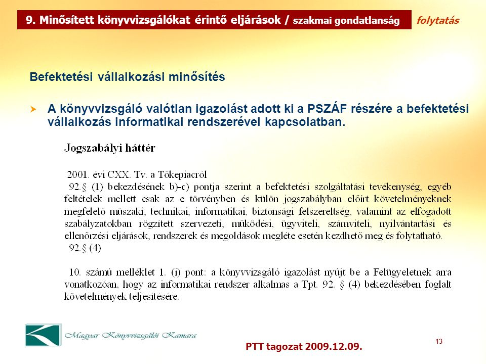 13 PTT tagozat 2009.12.09. 9.