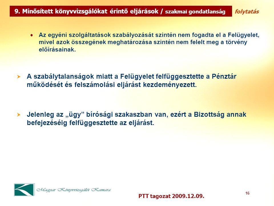 16 PTT tagozat 2009.12.09.