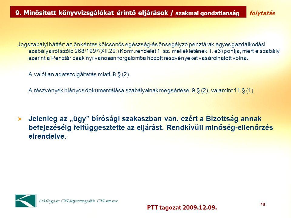 18 PTT tagozat 2009.12.09.